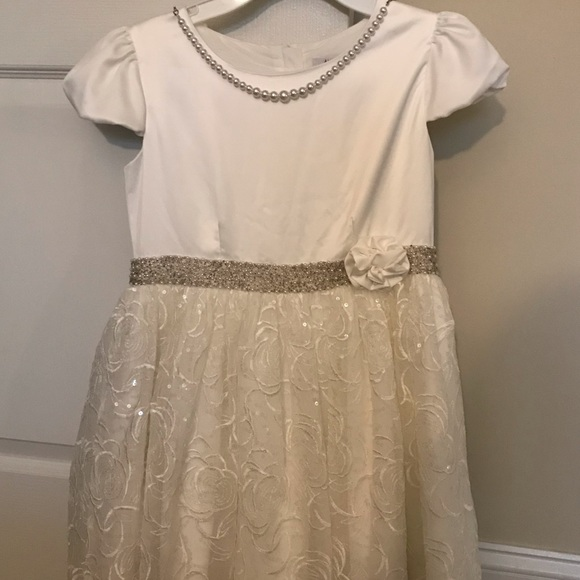 alphabet creation Other - Girls formal dress with pearls and detailed waist